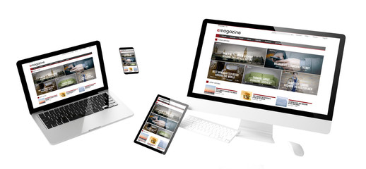 Wall Mural - flying devices e-magazine responsive website