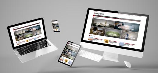 flying devices e-magazine responsive website
