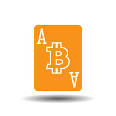 Ace of bitcoins vector illustration