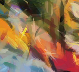 Abstract Brushstrokes