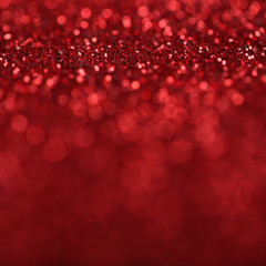 Abstract Red Defocused Lights Background