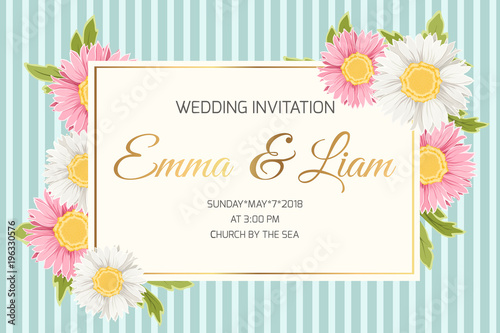 wedding marriage event invitation card template colorful pink white