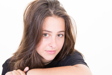 a cheerful teenager girl beauty