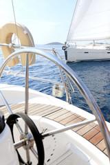 Sailing in Mediterranean sea, Croatia