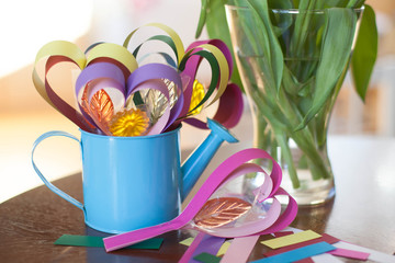 colorful heart lollipops, DIY gift made of paper,