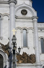 Christ Redeemer cathedral in Moscow. Popular landmark. Color photo.