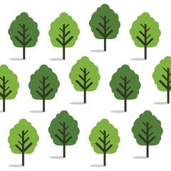 Green trees, seamless wallpaper