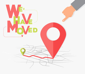 We have moved, changed address navigation