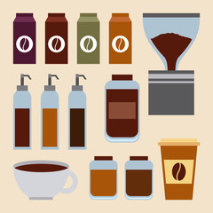 coffee set ingredients products sauces restaurant image