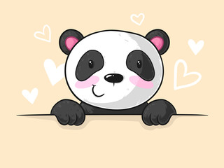Spickender Comic Panda