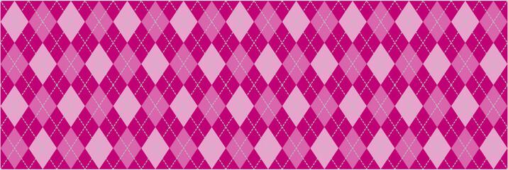 Pink Argyle Banner