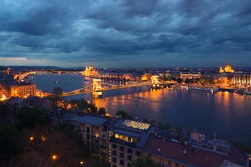 Budapest at twilight, Hungary
