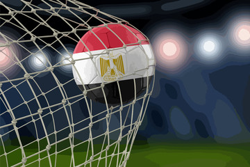 Egyptian soccerball in net