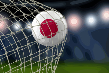 Japanese soccerball in net