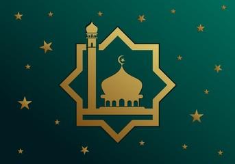Mosque islamic. Ramadan kareem logo