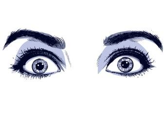 Occhi spaventati