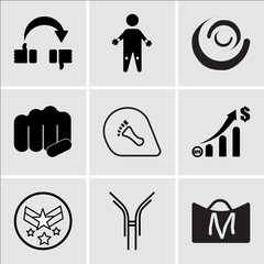 Set Of 9 simple editable icons such as shop cart m, antibody, air force, gdp, podiatry, fist bump, swish, pain points, flip over, can be used for mobile, web UI