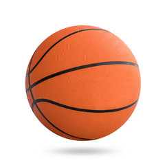 Basketball ball on white background with clipping path.