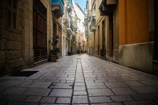 Historical Narrow Street in Malta