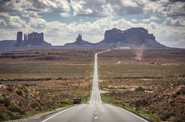 On the road to the Monument Valley