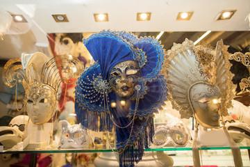 Venice, ITALY December 12, 2017: Venetian mask in Venice city, Itally