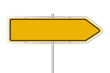Gelbes Straßenschild