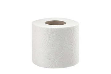toilet paper on white background toilet roll isolated