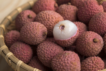 Fresh ripe Lychees