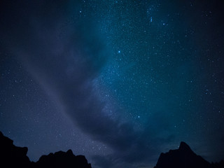 Stars and night sky background