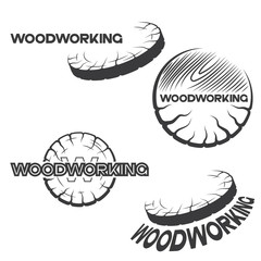 "an illustration consisting of four different images of a piece of wood and the inscription ""woodworking"""