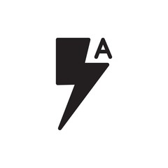 auto lightning camera filled vector icon