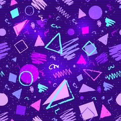 Seamless ultraviolet geometric pattern