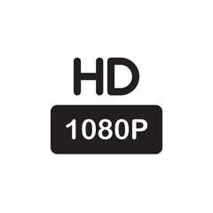 hd tv, hd quality filled vector icon
