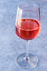 Pink Rose Blush Wine in Glass