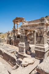 Fountain of Trajan in antique Ephesus. Selcuk in Izmir Province, Turkey.