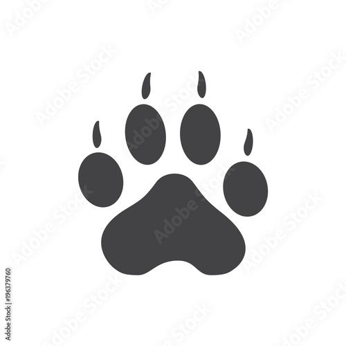quotvector illustration tiger paw prints logo black on