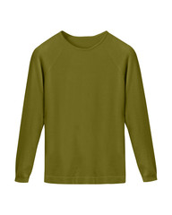 Khaki classy casual sweater isolated on white