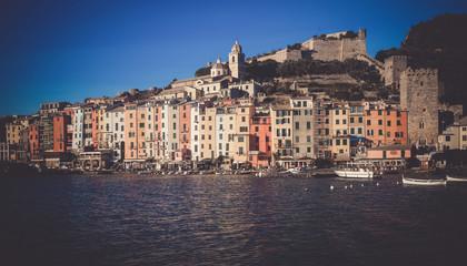 Picture of portovenere city La Spezia  at sunny day
