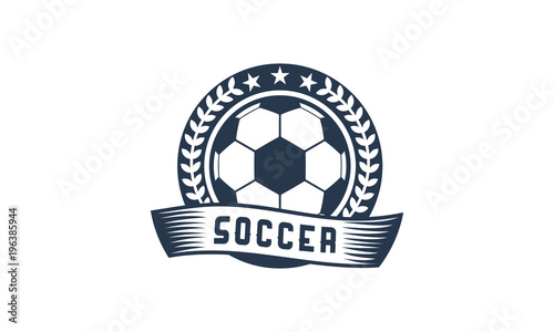 cool and simple soccer football badge logo designs soccer emblem