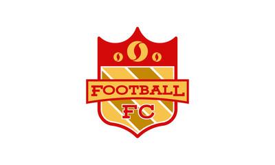 Soccer Football Badge logo designs, Soccer Emblem logo template vector illustration