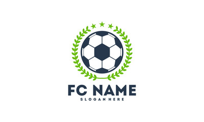 Simple Soccer Football Badge logo designs, Soccer Emblem logo template vector illustration