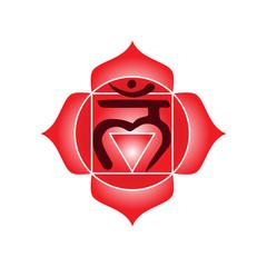muladhara chakra icon symbol esoteric yoga indian buddhism hinduism vector