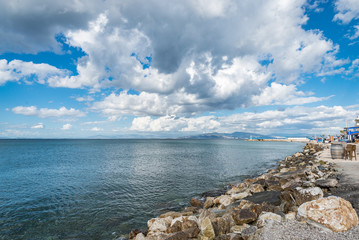 Seaside view at Guzelbahce, Izmir, Turkey