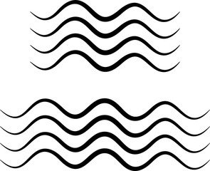 Water Wave Icon, Water Wave Sign