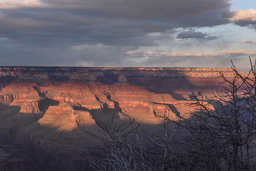 The Grand Canyon is seen from the South Rim near Grand Canyon Village
