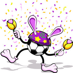 Dancing Soccer Easter Bunny