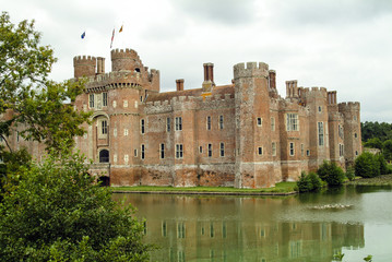 View of Herstmonceux Castle and its Moat
