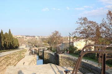 Les neuf écluses de fonseranes à Béziers, Occitanie, France
