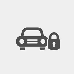Auto protection flat vector icon. Auto signaling flat vector icon