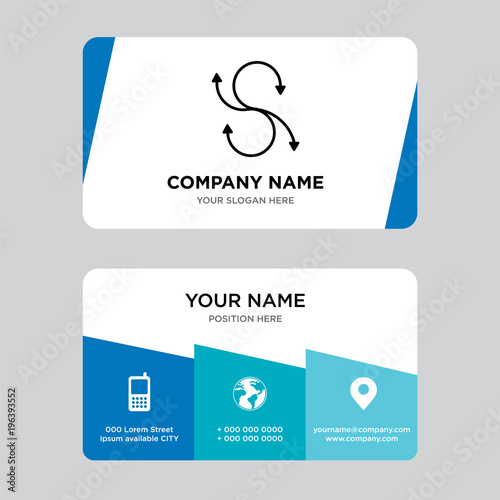 agile business card design template visiting for your company